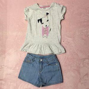 Gymboree shirt and short size 8